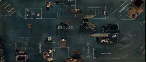 Cenário em 'Dogville', de Lars von Trier